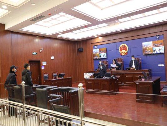 图为庭审宣判现场