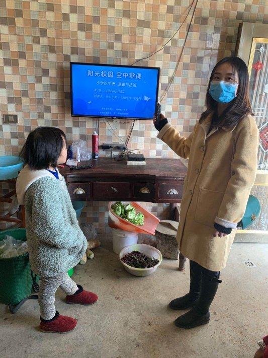 冯露老师为学生操作学习方法